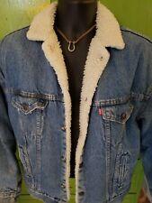 men's Levis vintage 80's sherpa lined denim trucker coat size XL mint condition