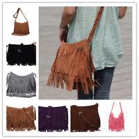 New Women's  Fringe Messenger Shoulder Tassel Bag Handbag Ladies Crossbody Bag