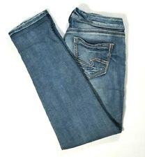 SILVER JEANS Womens SAM Boyfriend Jeans SLIM/SKINNY Light Wash Size 29 (8) ANKLE