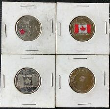 Lot of 4x Canada 25 Cents Quarters - Various Dates and Themes - Great Condition