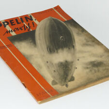 Zeppelin Onward! German Book w/120 photos Graf Hindenburg Blimp LZ127 LZ129
