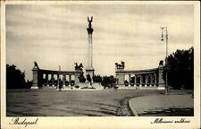 Budapest Ungarn s/w AK ~1920/30 Milleniumi emlékmű Milleniums Denkmal ungelaufen