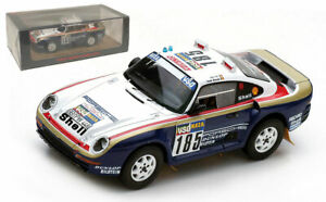 Spark S7814 Porsche 959 #185 2nd Paris-Dakar Rally 1986 - Jacky Ickx 1/43 Scale
