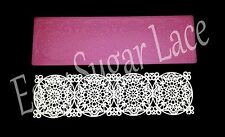 Silicone MEDALLION CAKE LACE Mat / Mold for Edible Sugar Lace (1 Row, Small)