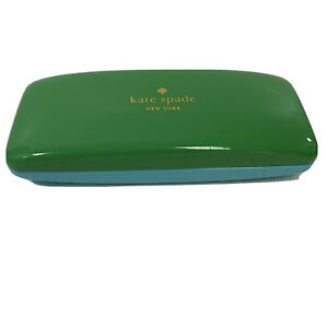 KATE SPADE New York Sunglasses Case Glasses Blue & Green Clamshell w/ Eyes