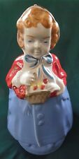 Rare Little Red Riding Hood Cookie Jar Pottery Guild - Unusual Brown Patches
