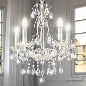 Design salle à manger salle rideau de cristal lustre en chrome Lampe suspension