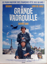 LA GRANDE VADROUILLE - BOURVIL / DE FUNES - AFFICHE RESORTIE GRAND FORMAT