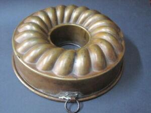 Antike Kupfer Backform  Kuchenform