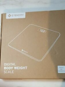 Etekcity EB4487S Digital Body weight scale white LCD screen