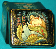 """AMAZING! """"Thumbelina"""" Russian Hand Painted 5-Sides PALEKH LACQUER BOX"""