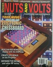 Nuts and Volts Jan 2017 Build Your Own Electronic Chessboard FREE SHIPPING sb