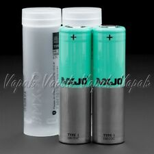 2 MXJO GREEN 18650 3500mAh 10A/20A HIGH DRAIN Flat Top Rechargeable Battery
