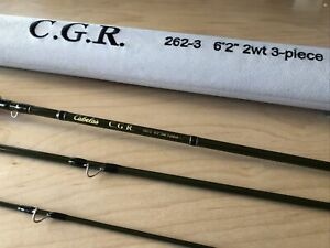 "Cabela's CGR 262-3 (6'2"" 2WT) Fly Rod - Excellent Condition"