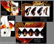 Butterflies, Insects, Canouan St.Vincent 2011 MNH 4 SS Set