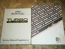 1989 PONTIAC TURBO GRAND PRIX FACTORY SERVICE MANUALS ORIGINAL REPAIR SHOP