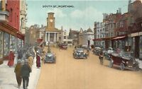 POSTCARD     SUSSEX     WORTHING   South  Street