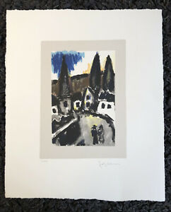 "JOSEF HERMAN OBE RA 1911-2000 ""Promenade"" Limited Ed Lithograph Ed 150"