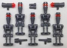 5 LEGO ASSASSIN ELITE DROIDS MINIFIG LOT: Star Wars dark gray figures IG-88