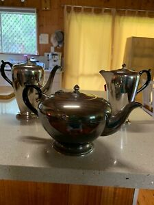 1930's Tea Pot, Coffee Pot and Water Pot Silver Plated