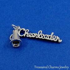 Silver CHEERLEADER MEGAPHONE Cheerleading CHARM PENDANT