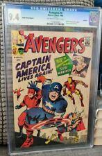 Avengers #4 CGC 9.4 1966 Golden Record Variant 1st Captain America GRR