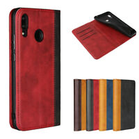 For Huawei Nova 3 Luxury Magnetic Two-tone Leather Wallet Flip Case Cover