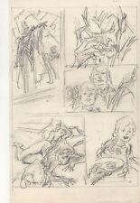 John Buscema  original pencil layout