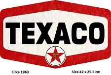 Texaco Metal Die Cut Tin Sign  98600 Licensed