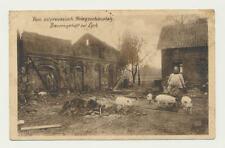 AK /  Lyck, ..ostpreussischer Kriegsschauplatz, Bauerngehöft bei Lyck