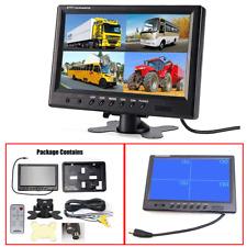 9 Inch LCD Quad Split Screen Security Surveillance Car Headrest Rearview Monitor
