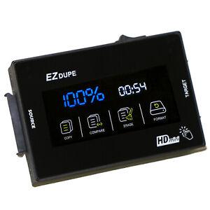 EZ Dupe 1 to 1 Hard Drive Duplicator - SOHO Touch SATA HDD SSD Cloner & Eraser
