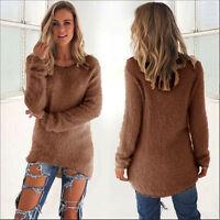 Women's Loose Long Sleeve Sweater Dress Ladies Sweatshirt Jumper Pullover Tops