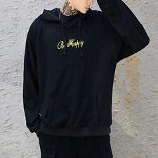 Jersey para Hombre Suéter Be Happy Estampado Sudadera Casual con Capucha Cubrir
