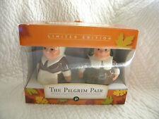 Publix Thanksgiving Figural Pilgrim Pair Salt & Pepper Shakers Nib/Super Cute