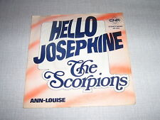 THE SCORPIONS 45 TOURS HOLLANDE HELLO JOSEPHINE