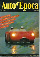Auto d'Epoca n.10 del 1989 : Ferrari 250 GT, MGA Coupè, Nurburgring, ...