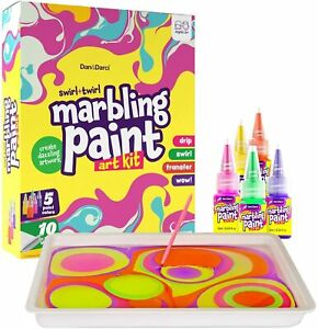 Dan&Darci Marbling Paint Art Kit for Kids Arts and Crafts for Girls & Boys Ages