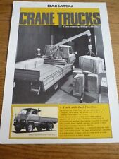 "Daihatsu crane truck sales ""brochure"" feuille-mi années 70?"