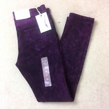 Jessica Simpson Kiss Me Skinny Jeans Jeggings Stretch Purple Size ~ 10R