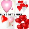 St.Valentin Amour Romantique Forme Coeur Ballons Mariage Fête GB