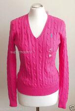 Ralph Lauren Damen-Pullover mit mittlerer Strickart V-Ausschnitt