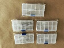 5 pcs - Plastic Organizer Box with Dividers Jewelry Container Case Bead Storage