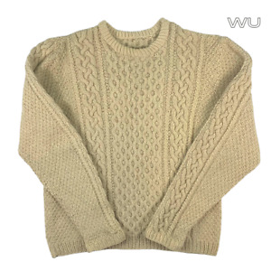 Arran Wool Cable Knit Cream Jumper Sweater