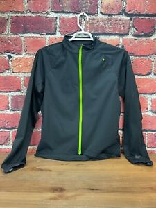 Cannondale Men's Cycling Soft Shell Jacket Size Large Full Zipper Black/Lime