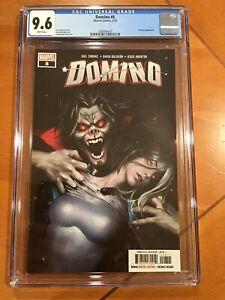"""Domino #8 CGC 9.6  """"Greg Hyuk Lee"""" Cover HTF Morbius ! 🥵"""
