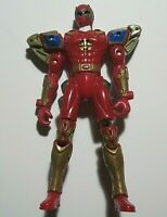 """2003  Mighty Morphin Power Rangers Dino Thunder 7 1/2"""" Red Extendable By Bandai"""