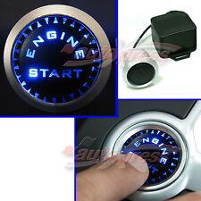 BLAU LEDs Beleuchtet KFZ Motor Startknopf Drucktaster Engine Start Knopf 12V