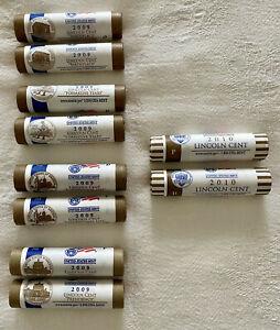 2009 2010 P D Rolls US Mint Lincoln Bicentennial COMPLETE Set *BONUS SET* LP1-4