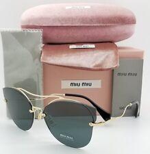 a53238924b5b New Miu Miu sunglasses MU 52SS ZVN1A1 62mm Butterfly Gold Grey MiuMiu large  MU52